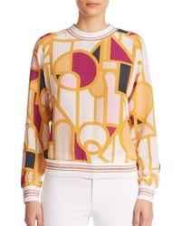Raoul - Printed Silk Sweatshirt - Lyst