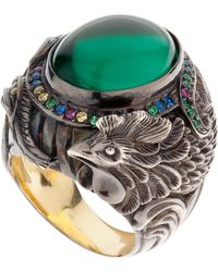 Queensbee - Rooster Cocktail Ring Gold - Lyst