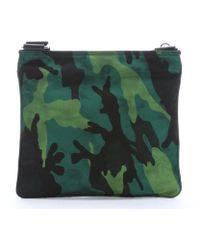 Prada Camouflage Printed Nylon Zip Top Shoulder Bag - Lyst