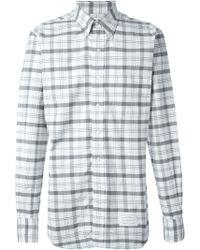 Thom Browne Checked Oxford Shirt - Lyst