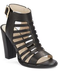 Kenneth Cole Skylar Leather Cage Sandals - Lyst