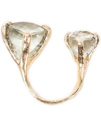 Unearthen Double Spectra Ring With Green Amethyst green - Lyst