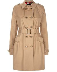 Juicy Couture - Cotton Twill Trench Coat - Lyst