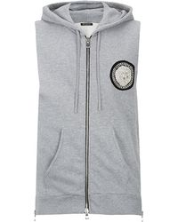 Balmain Sleeveless Hooded Sweatshirt - Lyst