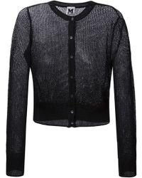 M Missoni Long-sleeved Metallic-knit Cardigan - Lyst