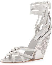 Donna Karan New York Tiberias Anklewrap Wedge Sandal - Lyst