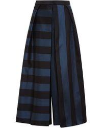 Tibi Striped Silk Culottes - Lyst