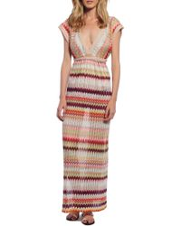 Missoni Maxi Dress red - Lyst