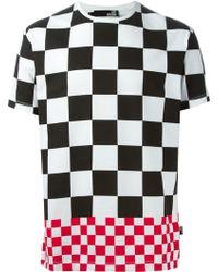 Love Moschino Check Print T-shirt - Lyst