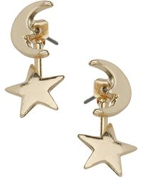 Topshop Moon and Star Earrings - Lyst