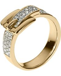Michael Kors Pave Buckle Ring - Lyst