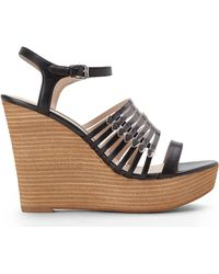 French Connection Black  Pewter Demi Sandals - Lyst