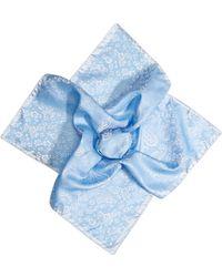 Etro | Woven Silk Pocket Square - Blue | Lyst