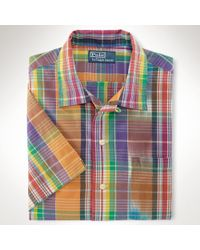 Polo Ralph Lauren Customfit Madras Camp Shirt - Lyst