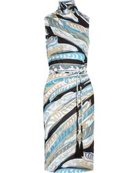 Emilio Pucci Printed Jersey Sheath Dress - Lyst