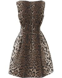 Lanvin Full Bottom Leopard Dress - Lyst