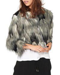 n:PHILANTHROPY - Georgie Cropped Faux-Fur Jacket - Lyst