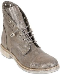 Fruit 20Mm Metallic Leather Boots - Lyst