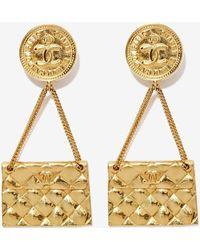 Nasty Gal Vintage Chanel Clutch Earrings gold - Lyst