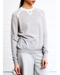 Demylee Lucien Sweater Light Grey & White gray - Lyst