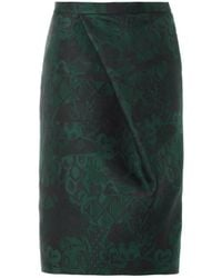 Burberry Prorsum Trellisjacquard Pencil Skirt - Lyst