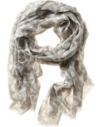 Banana Republic Gianna Scarf Grey Literature - Lyst