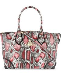 Vivienne Westwood Frilly Snake Borsa Large Tote Red - Lyst