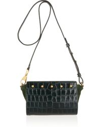 Alexander Wang - Pelican Sling Croc-effect Leather and Suede Shoulder Bag - Lyst