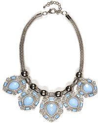 River Island Blue Teardrop Gem Stone Necklace - Lyst