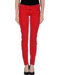 Mother Red Casual Trouser - Lyst