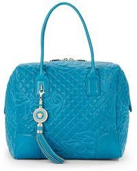 Versace Vanitas Quilted Bowler Bag - Lyst