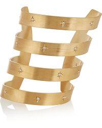 Iam By Ileana Makri - Ziggy Gold-Plated Cubic Zirconia Cuff - Lyst