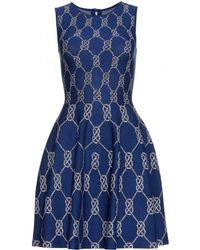 Issa Intarsia Stretchknit Dress - Lyst