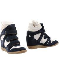 Lemarè Ankle Boots blue - Lyst