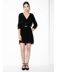 Mango Pleated Skirt Dress - Lyst