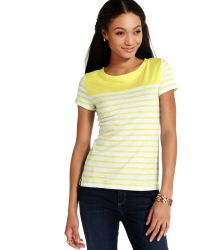 Tommy Hilfiger Shortsleeve Colorblocked Striped Tee - Lyst