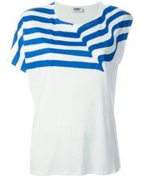 Sonia By Sonia Rykiel Fluid Asymmetric Jersey Top - Lyst