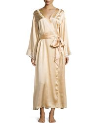 La Perla Lace-trim Belt Robe - Lyst