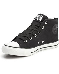 Converse Chuck Taylor All Star Mens Street Canvas Plimsolls - Lyst