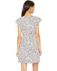Rebecca Taylor - Dot Print Dress - Malt Ball/black - Lyst
