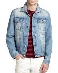 AMI Denim Jacket - Lyst