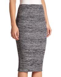 Alice + Olivia Herringbone Knit Pencil Skirt - Lyst