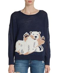French Connection Polar Bear Intarsia Sweater - Lyst