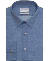 Calvin Klein Slim Fit Superfine Dress Shirt - Lyst