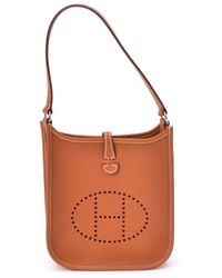Hermes Preowned Caramel Epsom Leather Everlyne Tpm  Bag - Lyst
