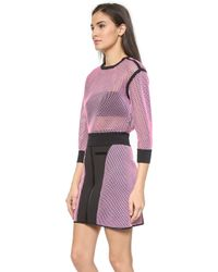 Ohne Titel - Reversible Mesh Pullover - Pink/Black - Lyst