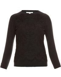 Diane Von Furstenberg Lace Pullover Sweater - Lyst