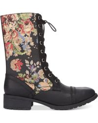 Denim & Supply Ralph Lauren - Torie Combat Booties - Lyst