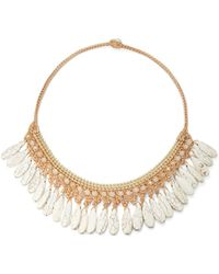 Panacea Woven Stone Collar Necklace - Lyst
