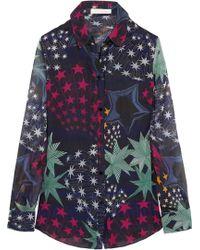 Matthew Williamson | Printed Silk-Chiffon Shirt | Lyst